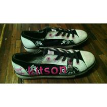 Zapatos Tipo Converse Americanos Kitson L.a Talla 38.5