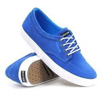 Zapatos Dekline Skate Mason Azul Royal-blanco Talla 7 Al 11