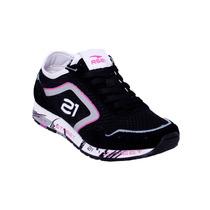 Zapatos Neon Rs21 Para Dama (negro/morado)