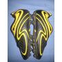 Zapatos Tacos Football Fútbol Dixon Negros Con Amarillo 30 T