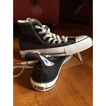 Zapatos Converse Unisex Corte Alto Negros 37.5