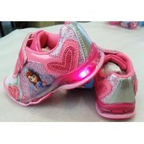 Princesa Sofia Zapatos Gomas C/luz Import Orig