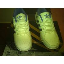 Zapatos Addidas Blancos Con Lila Talla 36 Horma Pequeña
