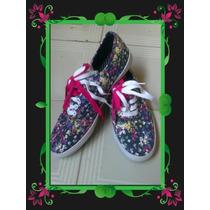Oferta Zapatos Deportivos Nuevos Importados Tipo Keds Flor