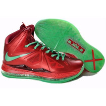 Gomas Lebron X 10 Red/ Green Tallas 41,42,43,44 Somos Tienda