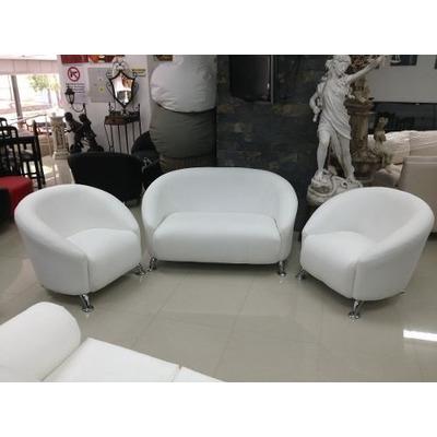 Juego de muebles viviana sofa 2 ptos 2 poltronas for Juego de muebles para sala modernos