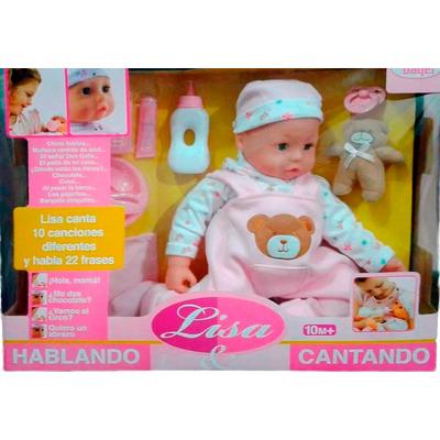 Mu eca lisa canta 10 canciones habla 22 frases juguete for Espejo que habla juguete