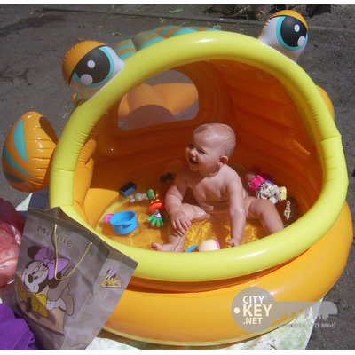 Piscina intex inflable tipo pez bebes techo nuevo bs f for Piscina inflable bebe