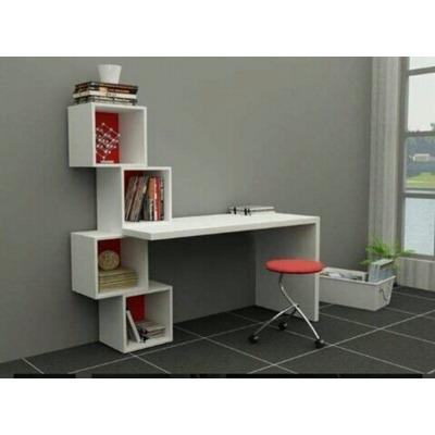 Escritorio moderno minimalista mesa para pc con cubos - Muebles para pc de escritorio ...