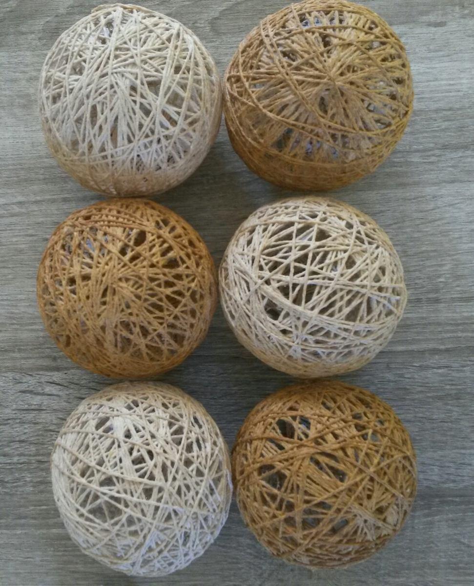 Adornos Esferas Bolas De Hilo Decoracion Centros De Mesa Bs  ~ Bolas Para Decorar Centros De Mesa
