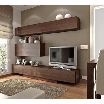 Centro de entretenimiento mueble tv modernos calidad for Closets modernos con television