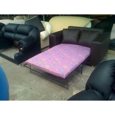 Mueble sofa cama juego de sala en semicuero bs for Sofa cama 1 plaza mercadolibre