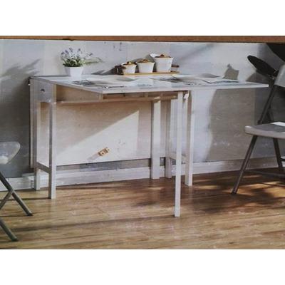 Mesa plegable madera blanca moderna bs en for Mesa plegable mercado libre