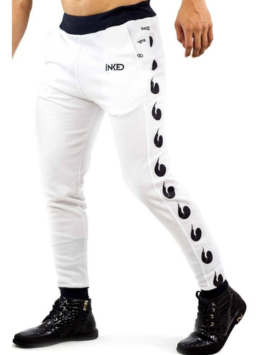 Mono Jogger Caballero Inked Estampado Blanco Detal Mayor