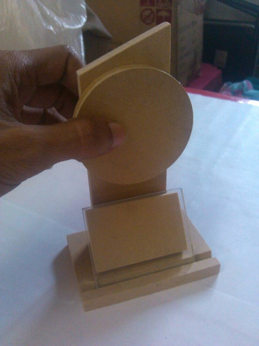 12 Trofeos Mdf Desarmados Y Personalizables Con Vidrio