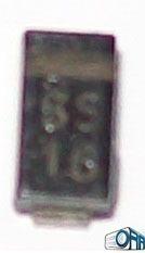J0993 . Ei . Diode Schottky Sk16 Ss16 60v 1amp