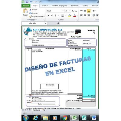 Plantillas en facturas en excel digital notas de entrega for Diseno de facturas