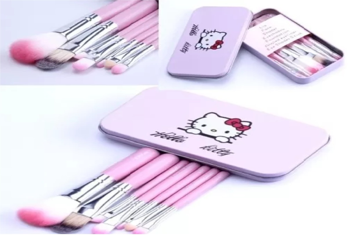 Set Pinceles Brochas Mac Hello Kitty 7 Piezas