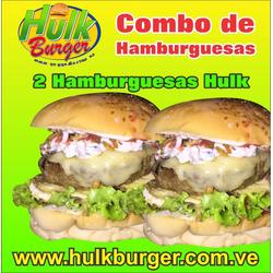 Combo de 3 Hamburguesas Hulk + refresco