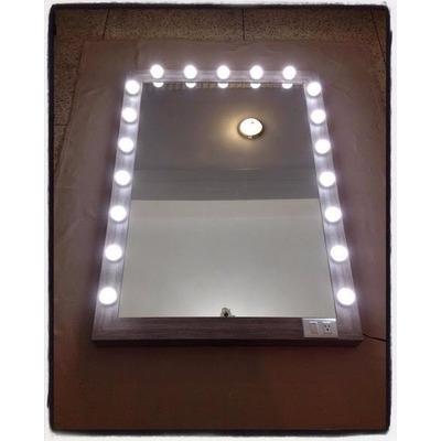 Espejo tipo camerino con bombillos de luz blanca bs 12 - Espejo tipo camerino ...