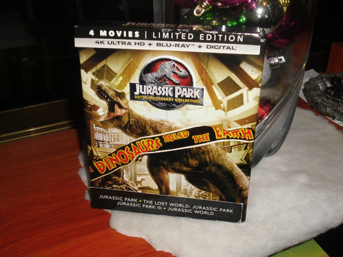 Jurassic Park 25th Anniversary Collection 4k Hdr Bluray