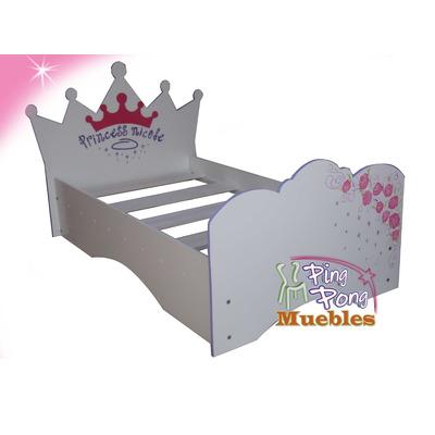Cama para ni as tama o 170 x 80 princesas barbye bs for Camas individuales para ninas