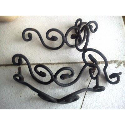 Manillas hierro forjado para puertas o gavetas rusticas - Manillas rusticas para puertas ...